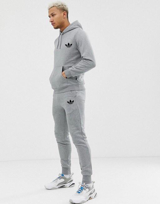 Спортивный мужской костюм Adidas (Адидас) серый