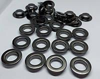 Нержавіючий люверс 10 мм темний нікель (100 шт.уп.)