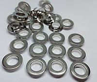 Нержавіючий люверс 10 мм нікель (100 шт.уп.)
