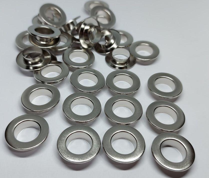 Нержавіючий люверс 12 мм нікель (100 шт.уп.)