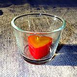 Круглый стеклянный подсвечник в комплекте с прозрачной восковой чайной свечой, фото 5