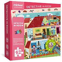 Пазл-детектив с лупой MiDeer «Загородный дом» (MD3008)