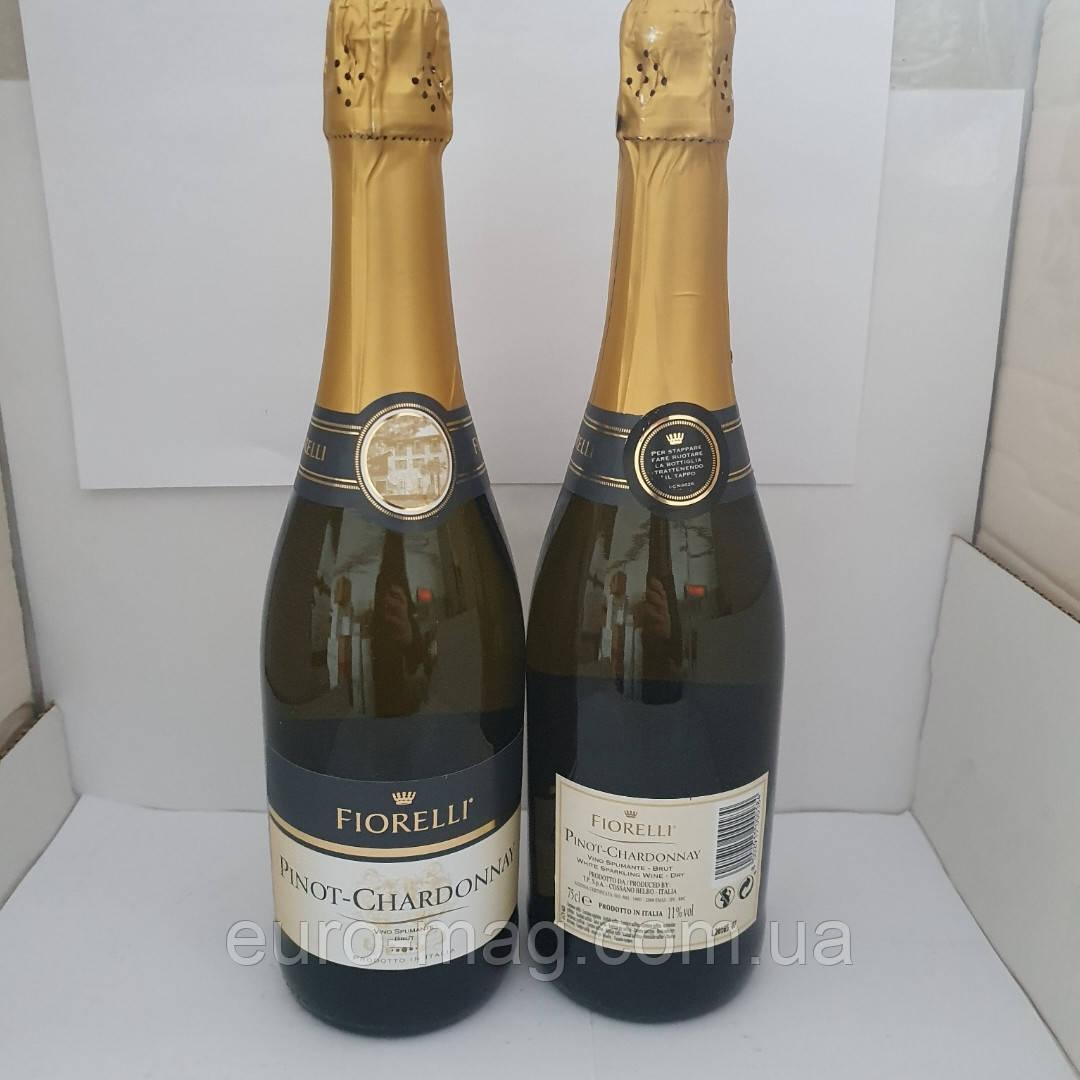 Шампанске брют Пинот Шардоне 0.75л Fiorelli Pinot Chardonnay brut