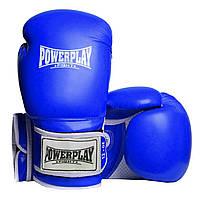 Боксерські рукавиці PowerPlay 3019 Сині 12 унцій Боксерские перчатки (SV)