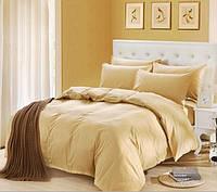Комплект постельного белья Наша Швейка Бязь Крем однотонный Двуспальный 180х215 см