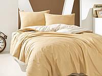 Комплект постельного белья Наша Швейка Бязь Крем с белым однотонный Двуспальный 180х215 см