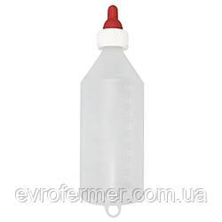 Пляшка 1 л з соскою для напування ягнят і козенят