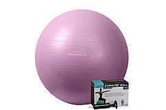 М'яч для фітнесу PowerPlay 4001 75см Фіолетовий + насос Гимнастический мяч фитбол для фитнеса  GP