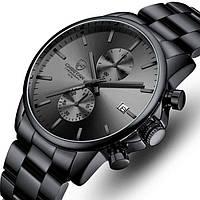 Часы наручные мужские кварцевые Cheetah Mars Black, модные мужские часы