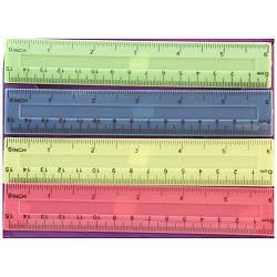 Лінійка пластикова кольорова 15 см
