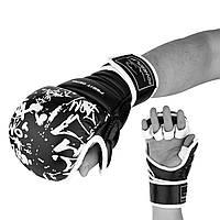 Рукавички для Karate PowerPlay 3092KRT Чорні-Білі M (SV)