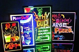 Дошка для меню в кафе і реклами з LED підсвічуванням 40х60см
