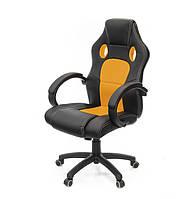 Небольшое геймерское кресло АНХЕЛЬ PL TILT ECO черная экокожа с сетчатыми вставками