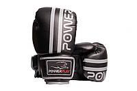 Боксерські рукавиці PowerPlay 3010 Чорно-Сірі 8 Перчатки для бокса и единоборств (SV)