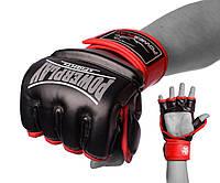 Рукавички для MMA PowerPlay 3058 Чорно-Червоні S (SV)