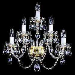 Хрустальное бра на 5 лампочек производство Чехия BERNARDETA V