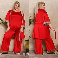 Пижама женская (халатик+майка+шорты+штаны) 44707, фото 1