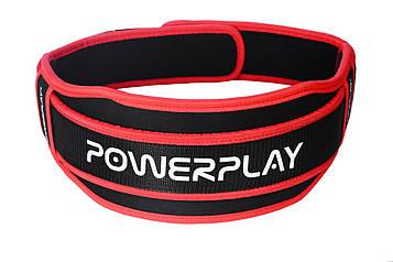 Пояс для важкої атлетики PowerPlay 5545 Чорно-Червоний (Неопрен) L