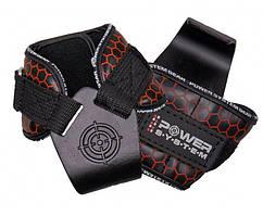 Гаки для тяги на зап'ястя Power System Hooks V2 PS-3360 Black/Red L Крюки для тяги на запястье  GP