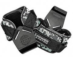 Гаки для тяги на зап'ястя Power System Hooks Camo PS-3370 Black/Grey XL Крюки для тяги на запястье  GP