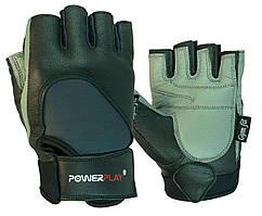 Рукавички для фітнесу PowerPlay 1556 Чорно-Сірі S