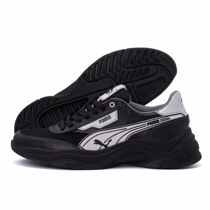 Мужские кожаные кроссовки Puma Anzarun Black реплика