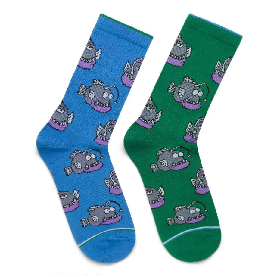 """Шкарпетки Дід Носкарь чоловічі 41-45 """"Морські чорти"""" синьо-зелені"""