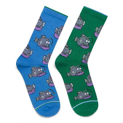 """Шкарпетки Дід Носкарь чоловічі 41-45 """"Морські чорти"""" синьо-зелені, фото 2"""