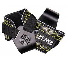 Гаки для тяги на зап'ястя Power System Hooks V2 PS-3360 Black/Yellow XL Крюки для тяги на запястье  GP