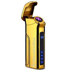 Электроимпульсная USB зажигалка Big Boss Gold MB VIP 046-4