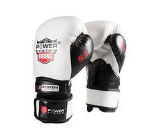 Боксерські рукавички PowerSystem PS 5001 White 12 унцій