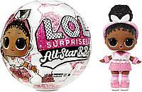 Кукла Лол Сюрприз Черлидеры 3-я серия LOL Surprise All-Star B.B.s Sports Series 3 Soccer Team