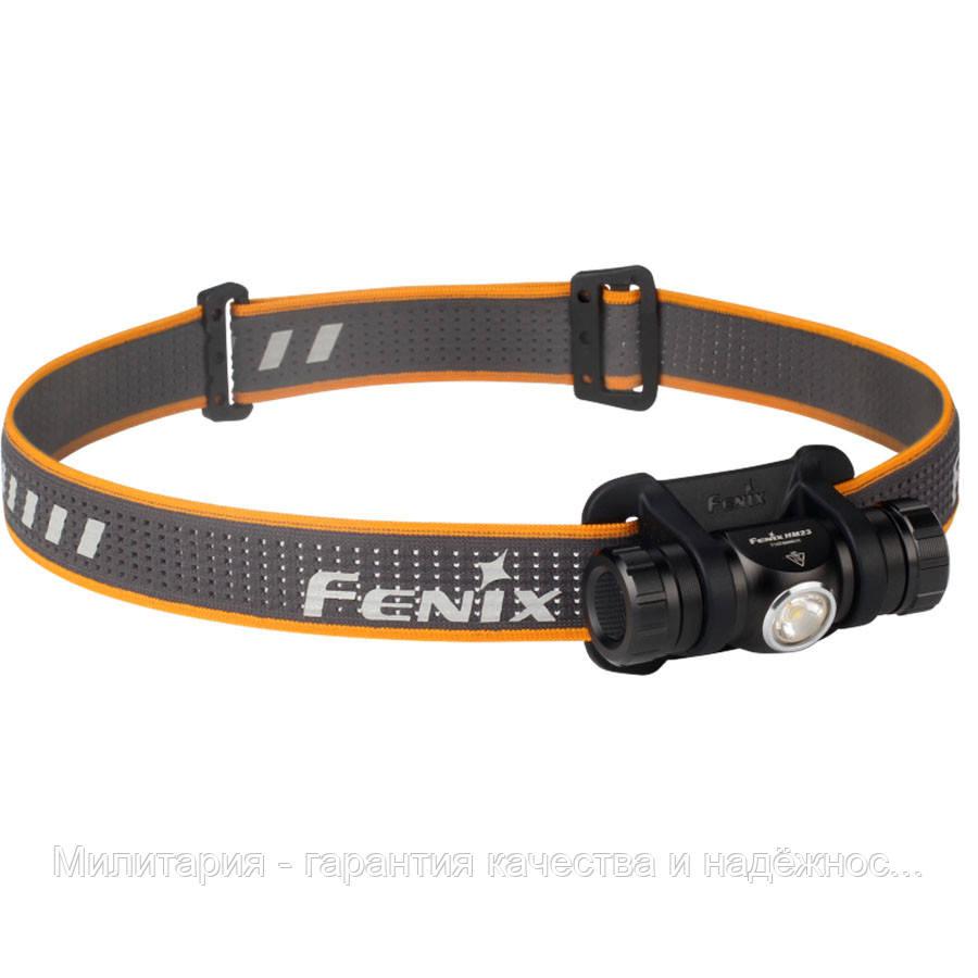 Фонарь налобный для туризма Fenix HM23 светодиодный (Феникс HM23)