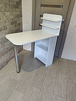 Маникюрный стол. Стол для маникюра. Стол для маникюра с полочками.