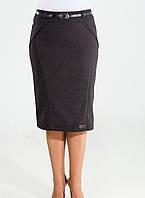 Деловая женская юбка на байке, фото 1