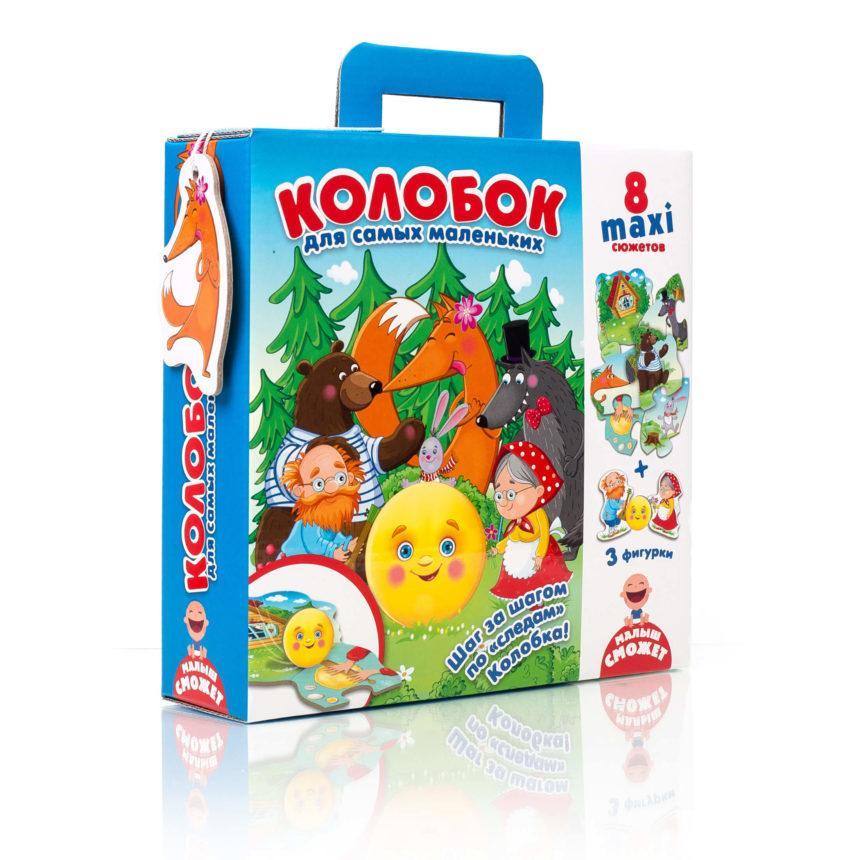 Макси пазл .Колобок. для самых маленьких, VT2909-11, Vladi Toys