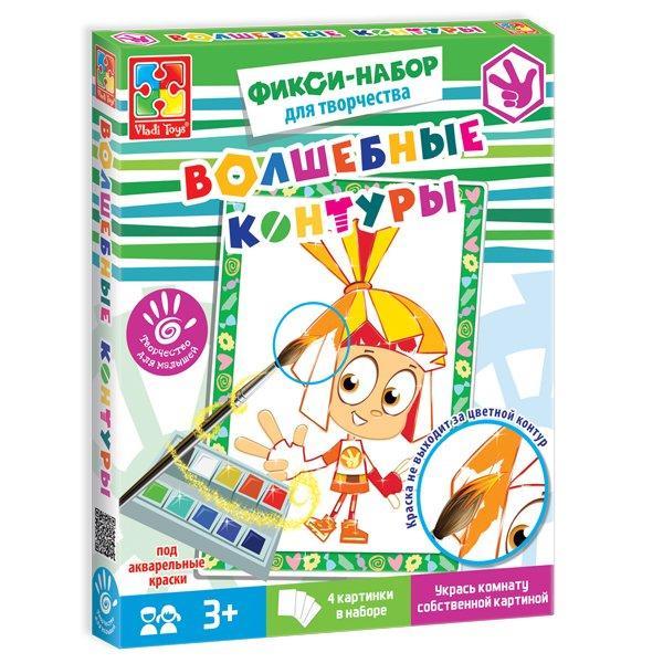Набор для детского творчества. Волшебные контуры. Фиксики, VT4402-21, Vladi Toys