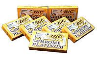 Леза для т-подібної бритви BIC Chrome Platinum (50 лез)