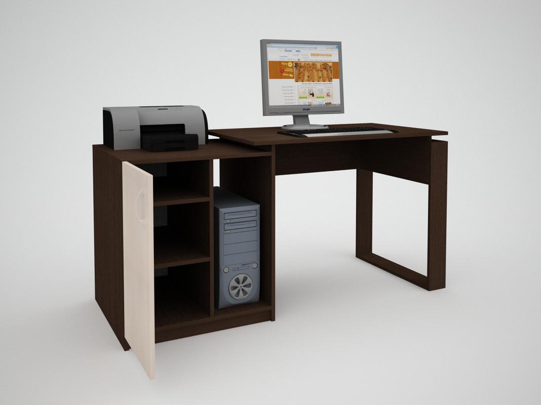 Письмовий прямий офісний стіл FlashNika / ФлешНика СН ЕКО 12