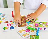 Развивающая игра с прищепками .Маленький логік., VT5303-11, Vladi Toys, фото 2