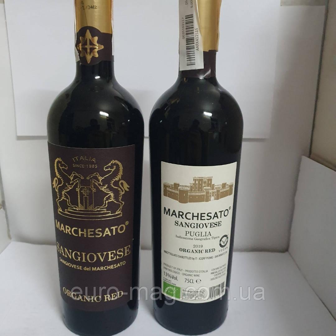 Вино красное Marchesato Sangiovese Puglia Санджовезе Марчезато 0.75 л 13%