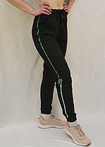 Брюки женские спортивные под манжет 2XL - 6XL Штаны женские с лампасами Kenalin Черный, фото 3