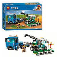 """Конструктор Cities """"Транспортировщик для комбайнов"""" 11223, 370 деталей"""
