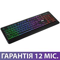 Игровая клавиатура с подсветкой Ergo KB-635 USB черная, геймерская светящаяся клава с подсветкой клавиш