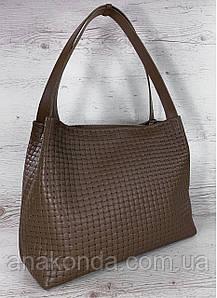 732 Натуральная кожа Кофейная женская сумка на плечо тиснение 3D кожаная женская сумка мягкая коричневая