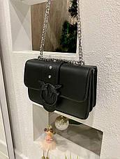 Женский клатч на цепочке Пинко черный КП45, фото 2