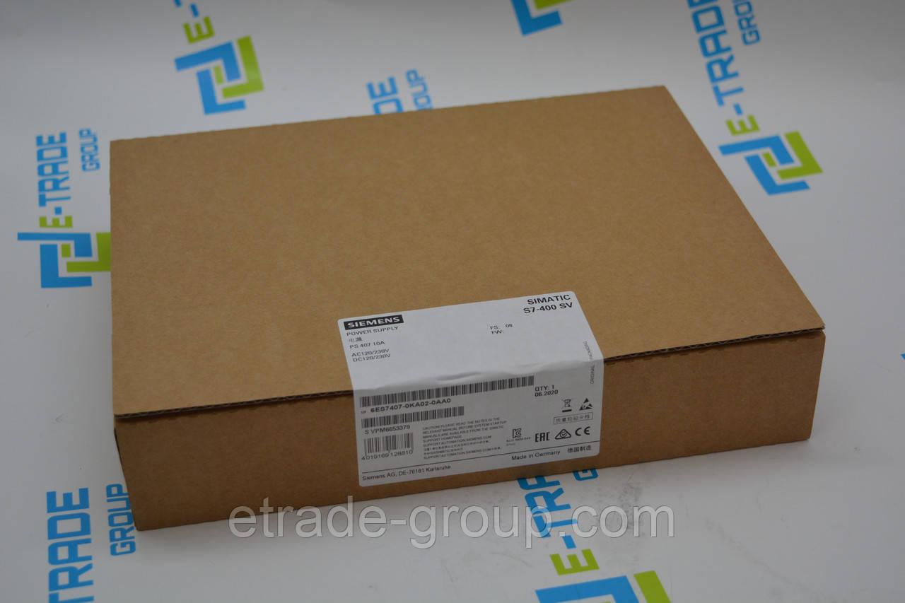 Блок питания  Siemens 6ES7407-0KA02-0AA0