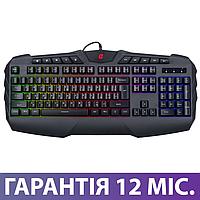 Игровая клавиатура с подсветкой Ergo KB-810 USB черная, геймерская светящаяся клава с подсветкой клавиш