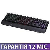 Игровая клавиатура с подсветкой 2E KG310 LED USB черная, геймерская светящаяся клава с подсветкой клавиш