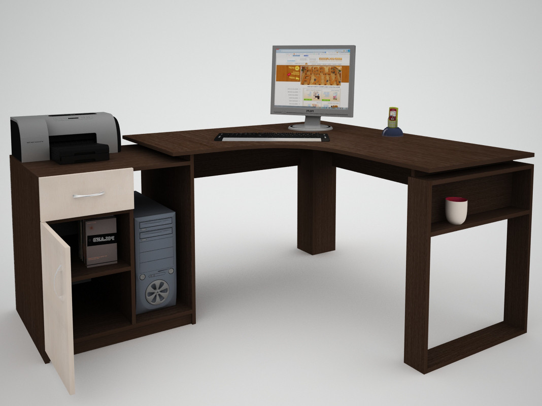 Письмовий прямий офісний стіл FlashNika / ФлешНика СН ЕКО 20
